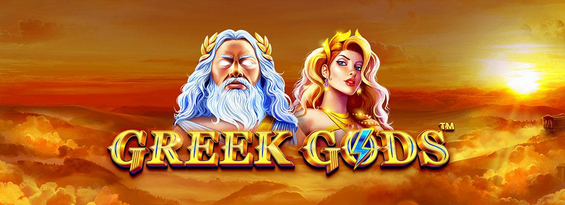 greek gods slot game banner
