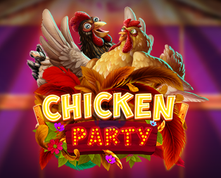 chicken party slot game logo