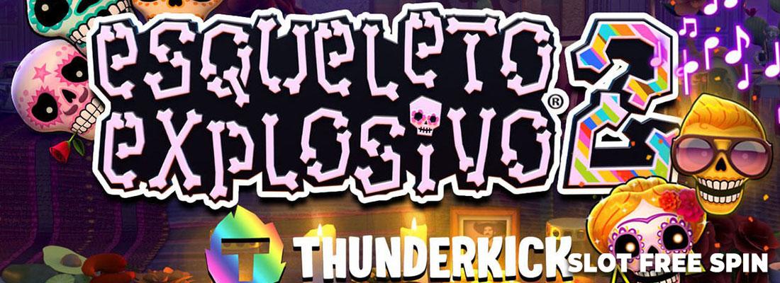 esqueleto explosivo 2 slot game banner