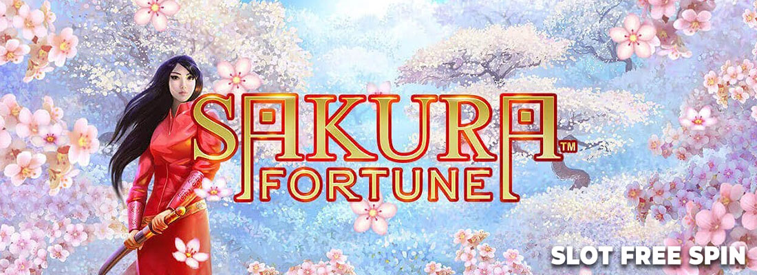 sakura fortune slot free spin game banner
