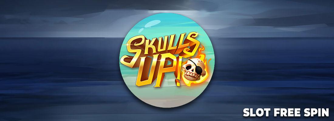 skulls up slot free spin game banner