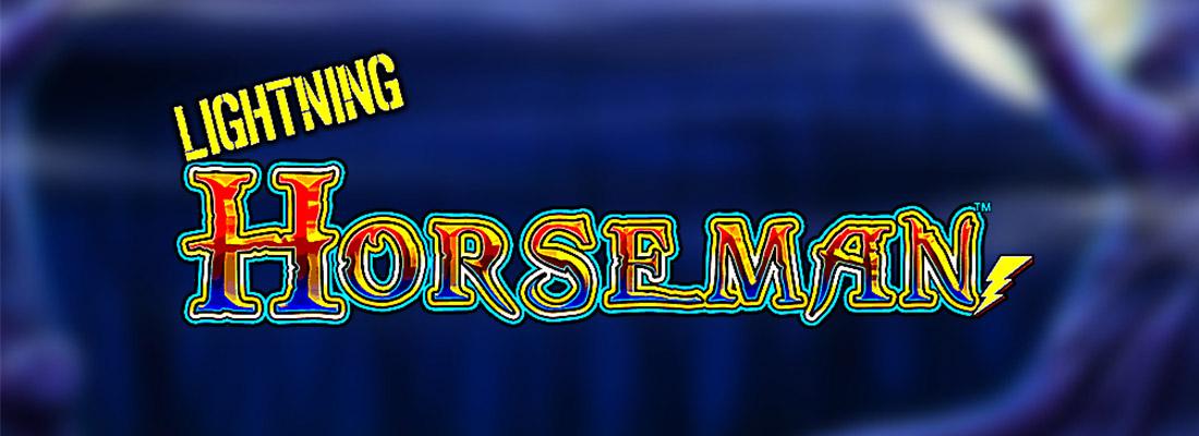 lightning horseman slot game banner
