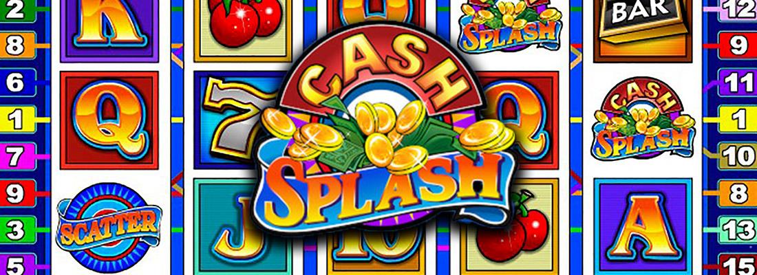 cash splash 5 reel slot game banner