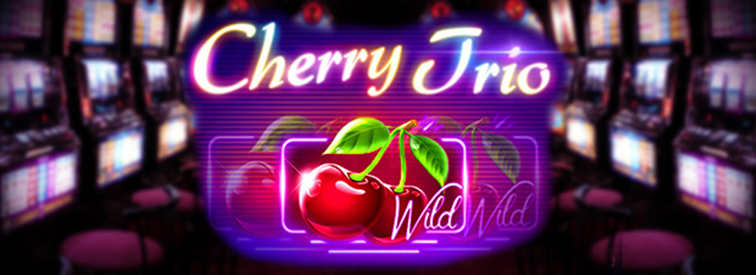 cherry trio slot game banner