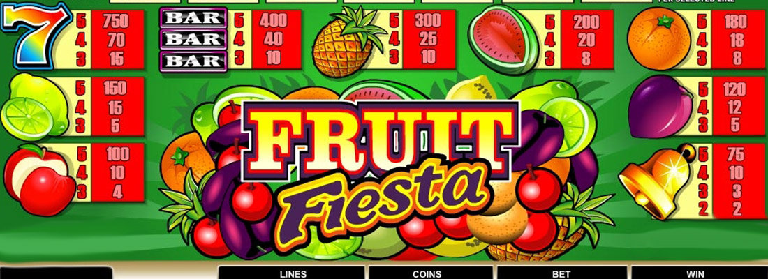 fruit fiesta 3 reel slot game banner
