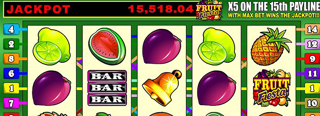 fruit fiesta 5 reel slot game banner
