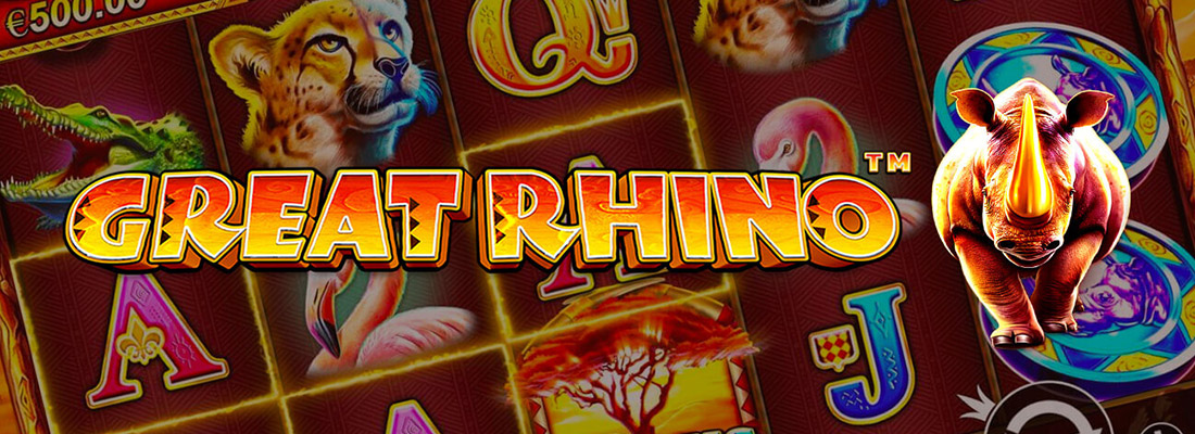 great rhino slot game banner