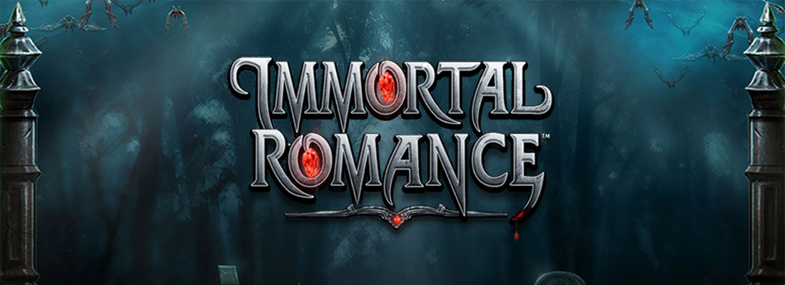 immortal romance slot game banner