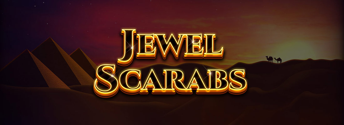 jewel scarabs slot game banner