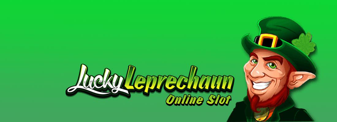lucky leprechaun slot game banner