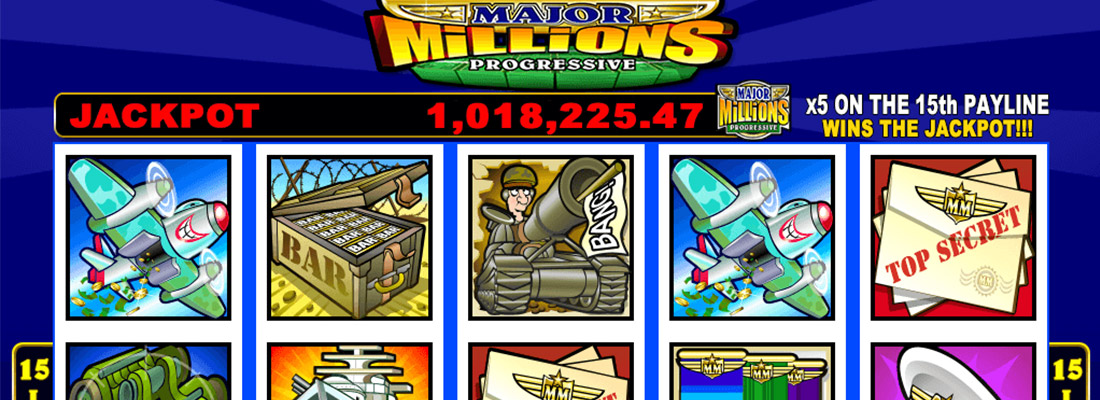 major millions slot game banner