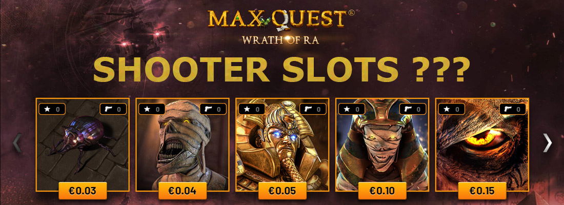 max quest wrath of ra slot game banner