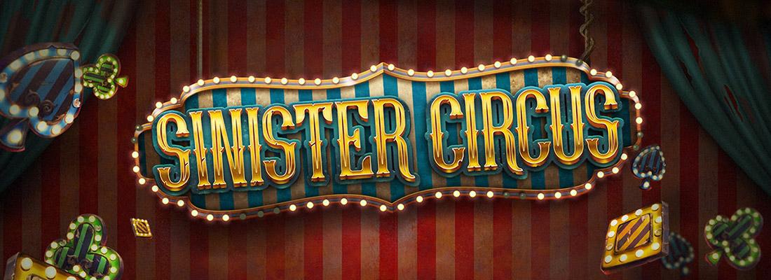 sinister circus slot game banner
