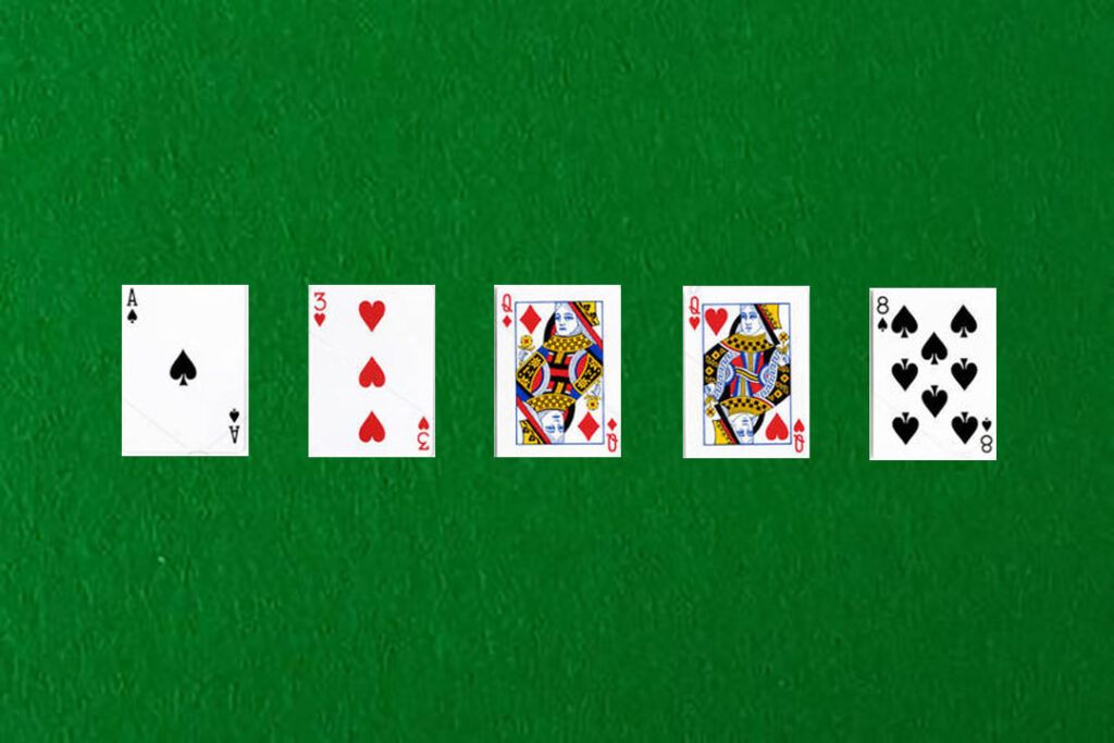 An image showing a one pair in poker