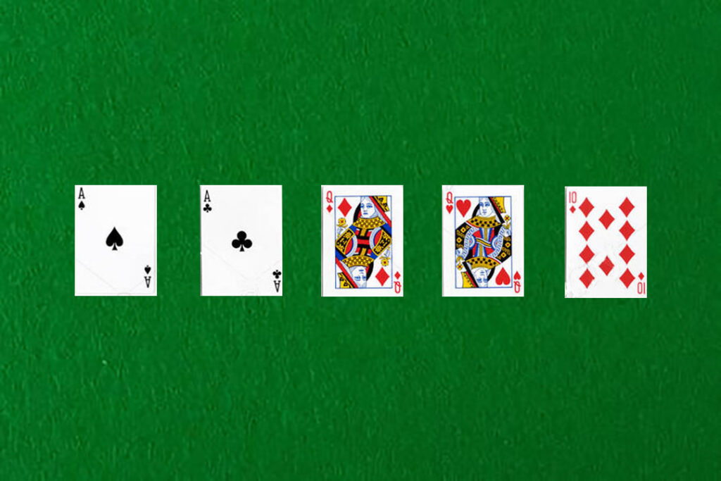 An image showing a two pair in poker