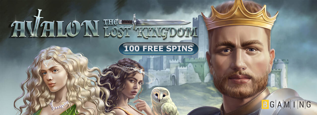 Avalon The Lost Kingdom Slot banner and free spins