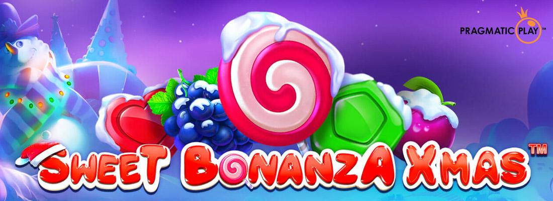 Sweet Bonanza Xmas slot banner
