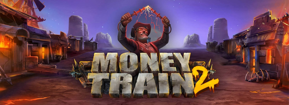 A banner for the money train 2 slot game