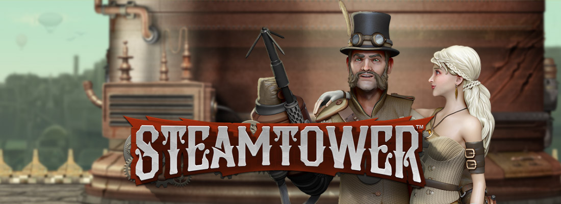 A banner for steam tower slot
