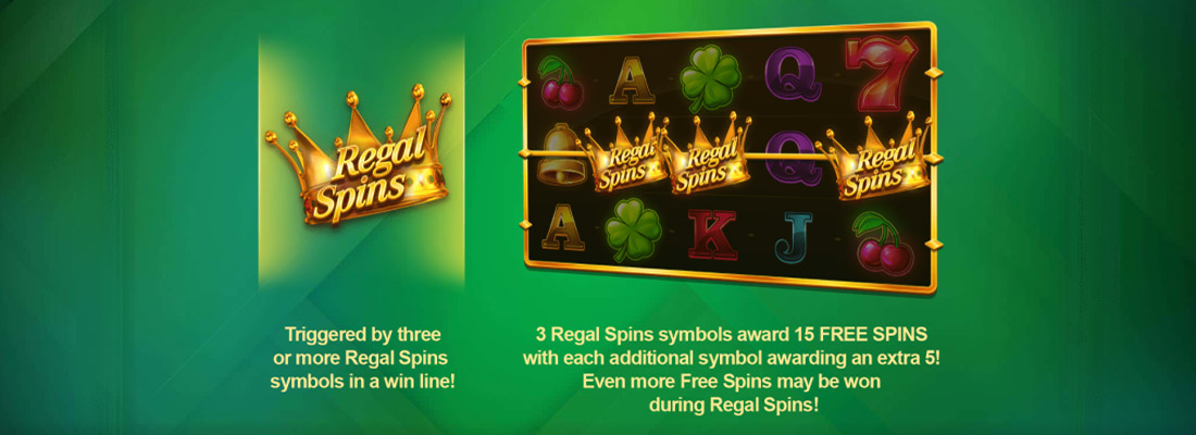Regal Spins Slot Banner