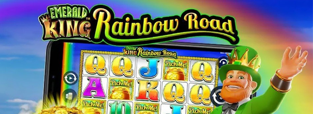 Emerald King Rainbow Road Slot Banner