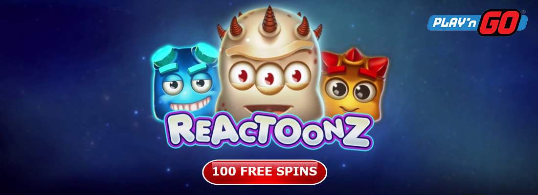 Reactoonz slot with offers for 100 free spins