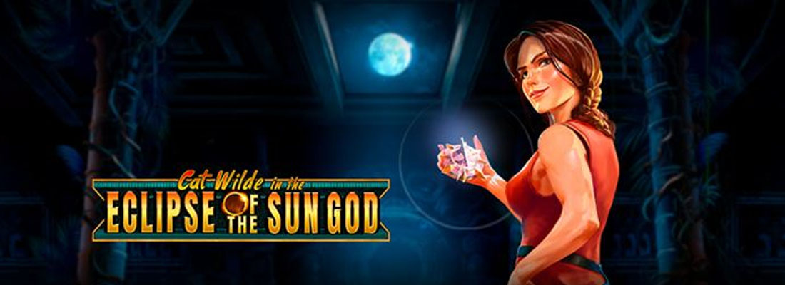 Cat wilde in the clipse of the sun god slot banner