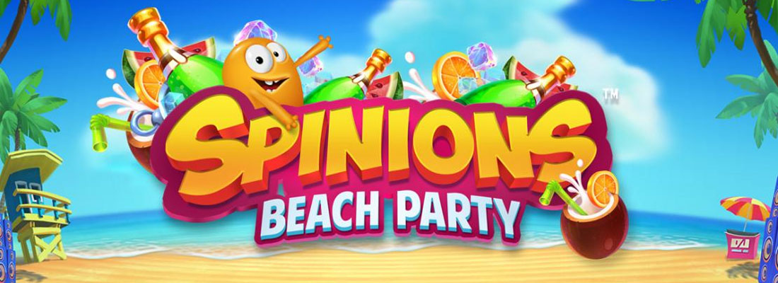 Spinions Beach Party Slot Banner