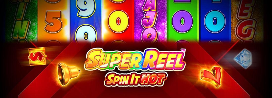 Super Reel Spin it Hot Slot Banner!