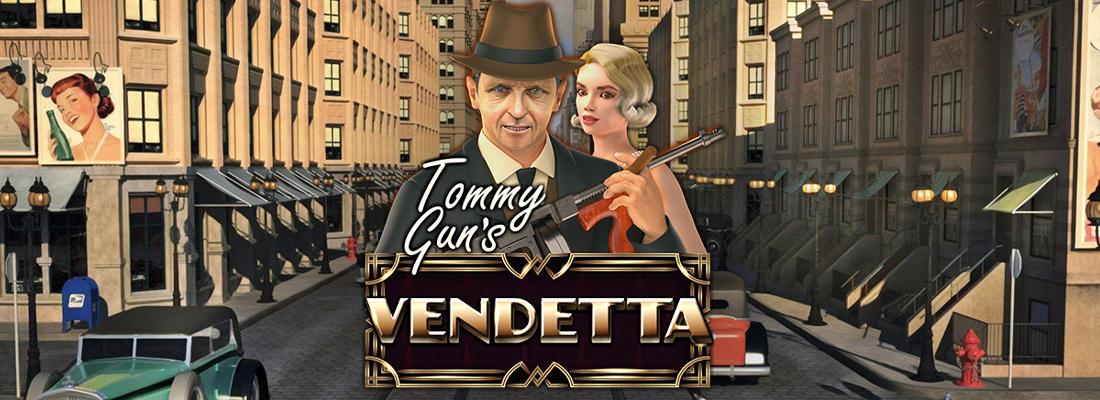 Tommy Gun's Vendetta slot banner